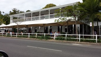 Wide verandah, shade trees, louvres Photography John Couper